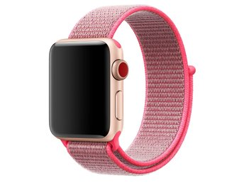 Nylon Loop 38mm Apple Watch Armband - (HOT PINK)