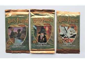 3 st. oöppnade paket HARRY POTTER 2001 Booster