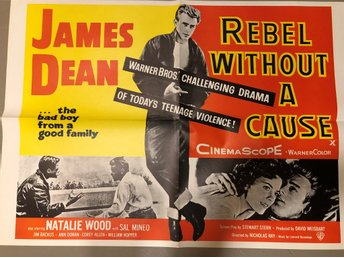 POSTER  -  FILM - REBEL WITHOUT A CAUSE - JAMES DEAN