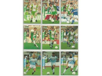 9 st  BUNDESLIGA COLLECTION 1997 SAMLARKORT - LOT NR 10