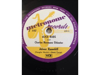 Alice Babs med Charles Normans Orkester. Metronome J182.