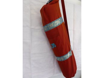 Hand Made Maroon Silk Yoga Mat cover with Pocket