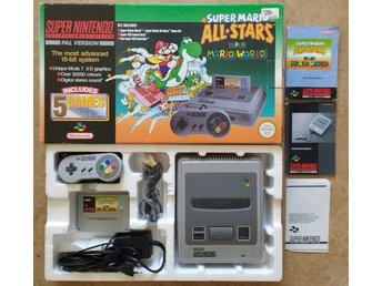Super Nintendo SNES Super Mario Allstars + World Bundle (SCN/svensksålt)