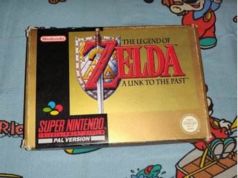 The Legend of Zelda: A Link to the Past Kartong! SCN! Svensksålt! 1kr