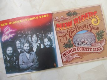 2 x LP- NEW RIDERS OF THE PURPLE SAGE   US- pressar från 1977 och 1980
