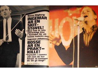 BOSSE HÖGBERG, INGEMAR JOHANSSON, 4-sidor TIDNINGSARTIKEL 1967 - öckerö - BOSSE HÖGBERG, INGEMAR JOHANSSON, 4-sidor TIDNINGSARTIKEL 1967 - öckerö