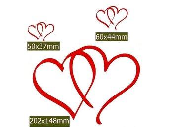 Väggdekor Grå : Väggdekor st hjärtan i olika storlekar på tradera Övrig