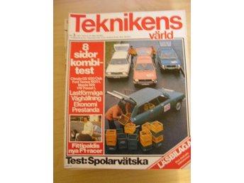 TEKNIKENS VÄRLD NR 3 1975 TEST: CITROEN GS KOMBI ,M.FL. - Uppsala - TEKNIKENS VÄRLD NR 3 1975 TEST: CITROEN GS KOMBI ,M.FL. - Uppsala