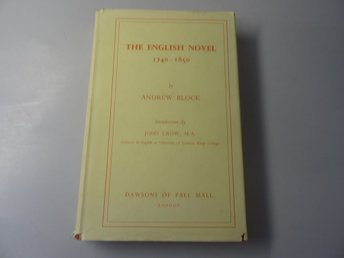 The english novel 1740-1850