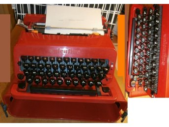 """OLIVETTI VALENTINE"" 1969 - ETTORE SOTTSSAS & PERRY KING-Made in Barcelona SPAIN"