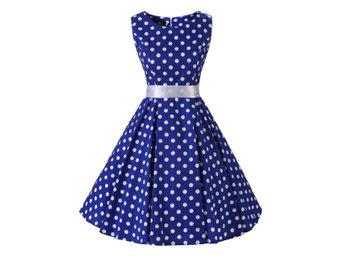 Stl M Polkadot Rockabilly Klänning 50 tal Swing Dress  DC3023
