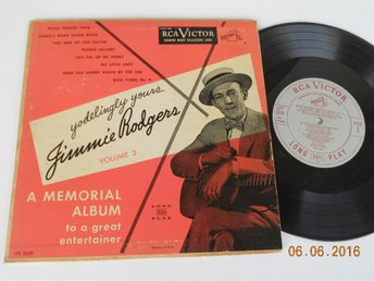 "JIMMIE RODGERS - Memorial Album Vol. 3, 10"" LP RCA LPT 3039, USA 1951"