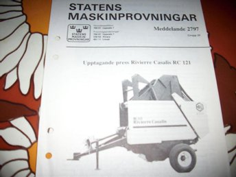 UPPTAGANDE PRESS RIVIERRE CASALIS RC 121  (2797)