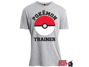 Pokemon Trainer Poké Ball T-Shirt Grå (Large)