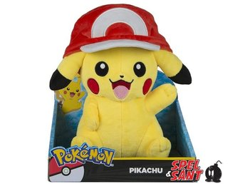 TOMY Pokemon 25cm Plush Pikachu With Ash Hat