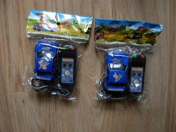 Javascript är inaktiverat. - Grängesberg - Bilarna är batteri drivna och ca 6 cm långa! 2st blåa bilar! De kommer ifrån ett gammalt marknads lager ifrån 1990-talet. De är oanvända dock ej testade! På marknader kostade de 39kr st att köpa. De säljs som begagnade då de lega - Grängesberg