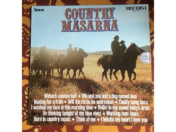 "LP + 7:a COUNTRY  MASARNA LP Moondisc 1975 + RANK STRANGERS 7"" - EARLY..."