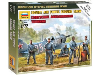 SOVIET AIRFORCE GROUND CREW    Zvezda  1/72 Byggsats