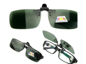 Polarized Day Night Vision Clip-on Flip-up Lens Glasses Black