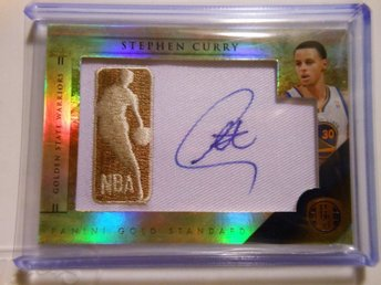 Stephen Curry Äkta Autograf! Golden State Warriors NBA Mästare! kort från Panini