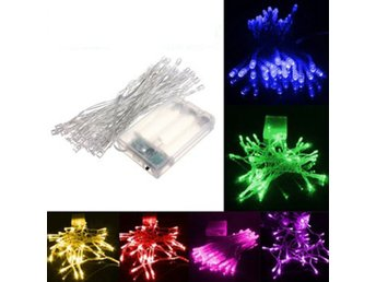 4M 40 LED Battery Powered Christmas Wedding Party String ...