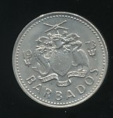 Barbados 1973 10 Cents se bild