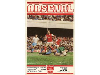 Program: Arsenal - Norwich (31.8.1982)