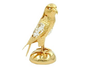 Falcon Hawk With Crystal Elements Gold Plated - Enstaberga - Falcon Hawk With Crystal Elements Gold Plated - Enstaberga