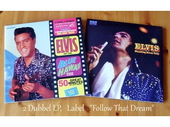 "ELVIS PRESLEY 2 ST DUBBEL LP ALBUM FRÅN ""FOLLOW THAT DREAM"""