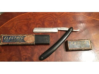 Rakkniv Electric Razor finest silver steel Germany i etui.