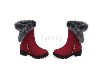 Dam Boots Women Fashion Platforms Casual Footwear Red 34