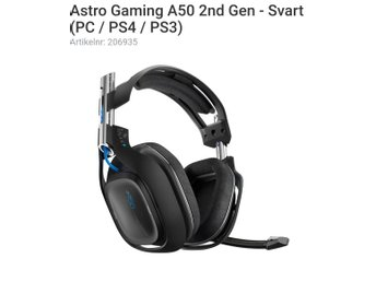 Astro gaming A50 wireless headset (PC/Ps4)