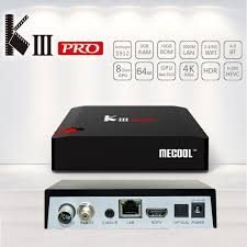 MECOOL KIII PRO DVB-T2/S2/C YouTube 4K Netflix HD Android 7.1 S912 3GB/16GB TV B