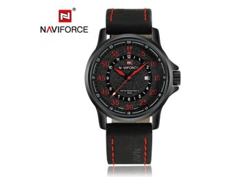 Klocka Herr New NAVIFORCE Luxury Brand red