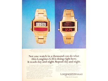 LONGINES WITTNAUER WATCHES TIDNINGSANNONS Retro 1976