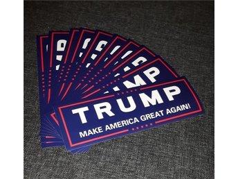 10x Trump Bumper Sticker Make America Great Again - Malmö - 10x Trump Bumper Sticker Make America Great Again - Malmö