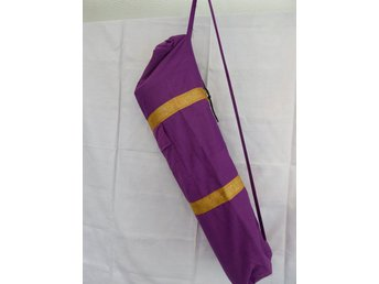 Hand made Purple Silk Yoga mat cover with Pocket