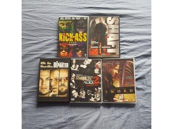5 actionfilmer. Kick-Ass The departed Shaft m.m. - Södertälje - 5 actionfilmer. Kick-Ass The departed Shaft m.m. - Södertälje