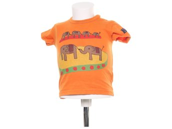 Polarn O. Pyret, T-shirt, Strl: 80, Orange/Flerfärgad