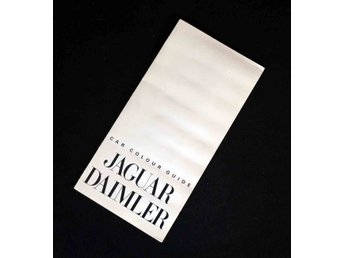 Jaguar & Daimler Colour & Trim Guide   Original broschyr