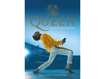 QUEEN - OFFICIELL 2019 KALENDER - NY - ORD PRIS 179kr