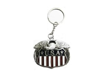 Eagle And Flag Nyckelring.