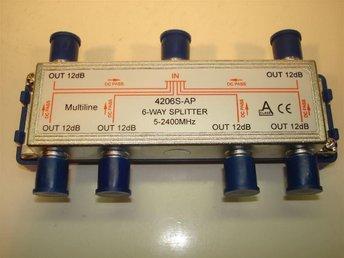 Splitter 4206S-AP med 6 utgångar för sattelitsignal. - Asarum - Splitter 4206S-AP med 6 utgångar för sattelitsignal. - Asarum