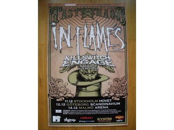 IN FLAMES/Killswitch Engage original turnéposter 2009