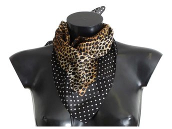 Dolce & Gabbana - Brown Leopard Print Cotton Scarf