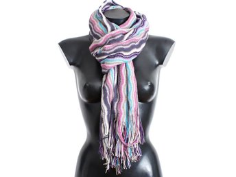 Missoni - Multicolor zig zag pattern wool scarf