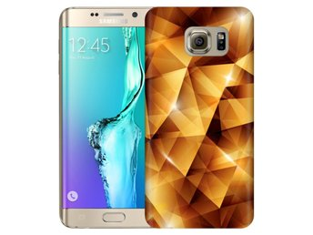Samsung Galaxy S6 Edge+ Skal Golden Polygons