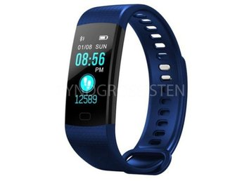 Smart Watch Sports Fitness Activity Tracker Navy Blue Fri Frakt Ny