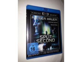 SPLIT SECOND (1992) RUTGER HAUER (VÄRSTING!) UNCUT BLURAY
