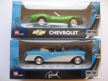 VN Leksaker Bilar Metall USA 2-Pack Chevrolet / Buick 1:43 NR3 - Uddevalla - VN Leksaker Bilar Metall USA 2-Pack Chevrolet / Buick 1:43 NR3 - Uddevalla